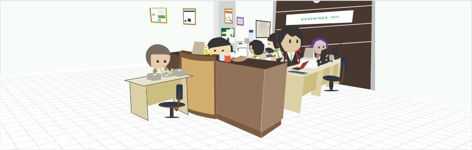 Ilustrasi kantor Doremindo