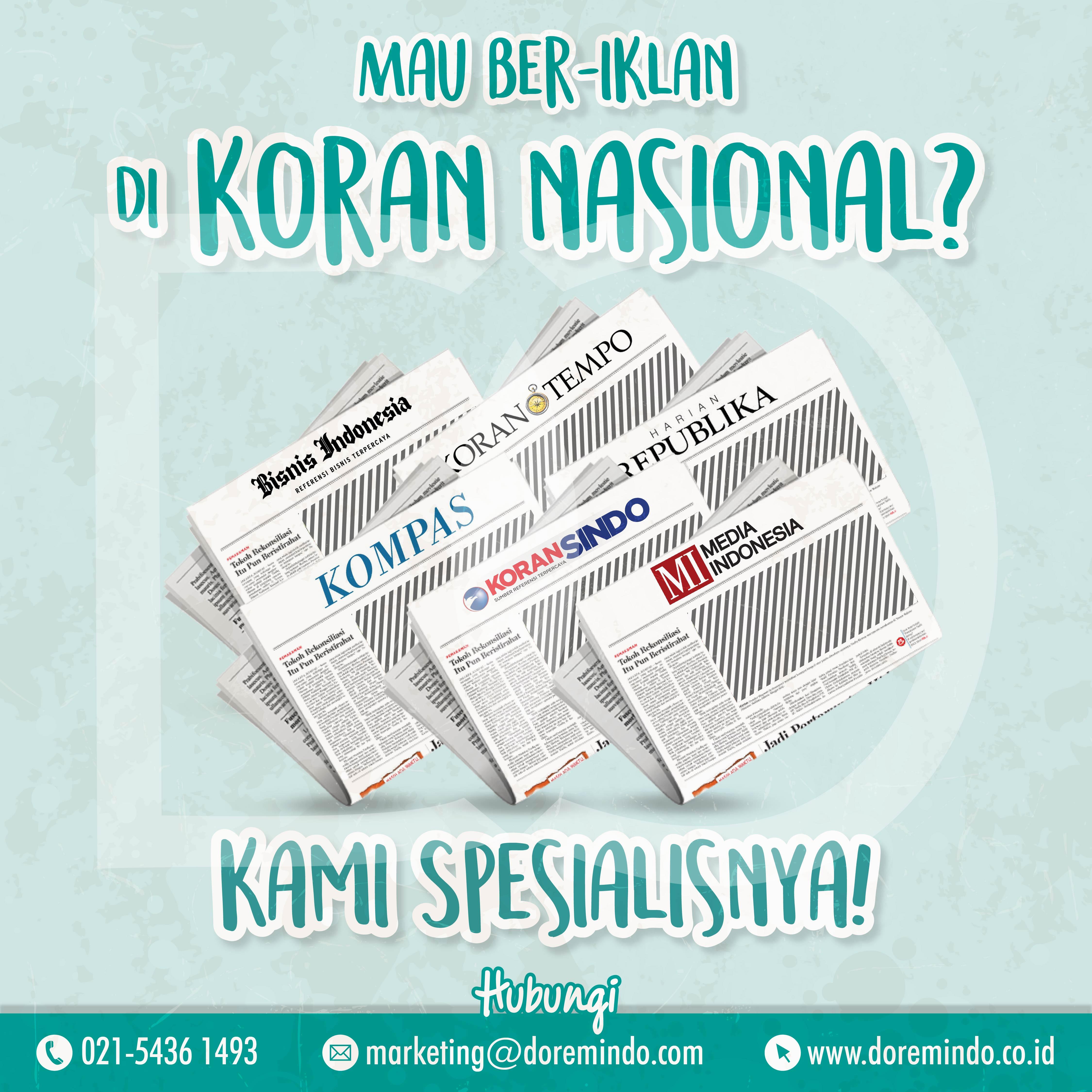 Iklan di Koran Nasional