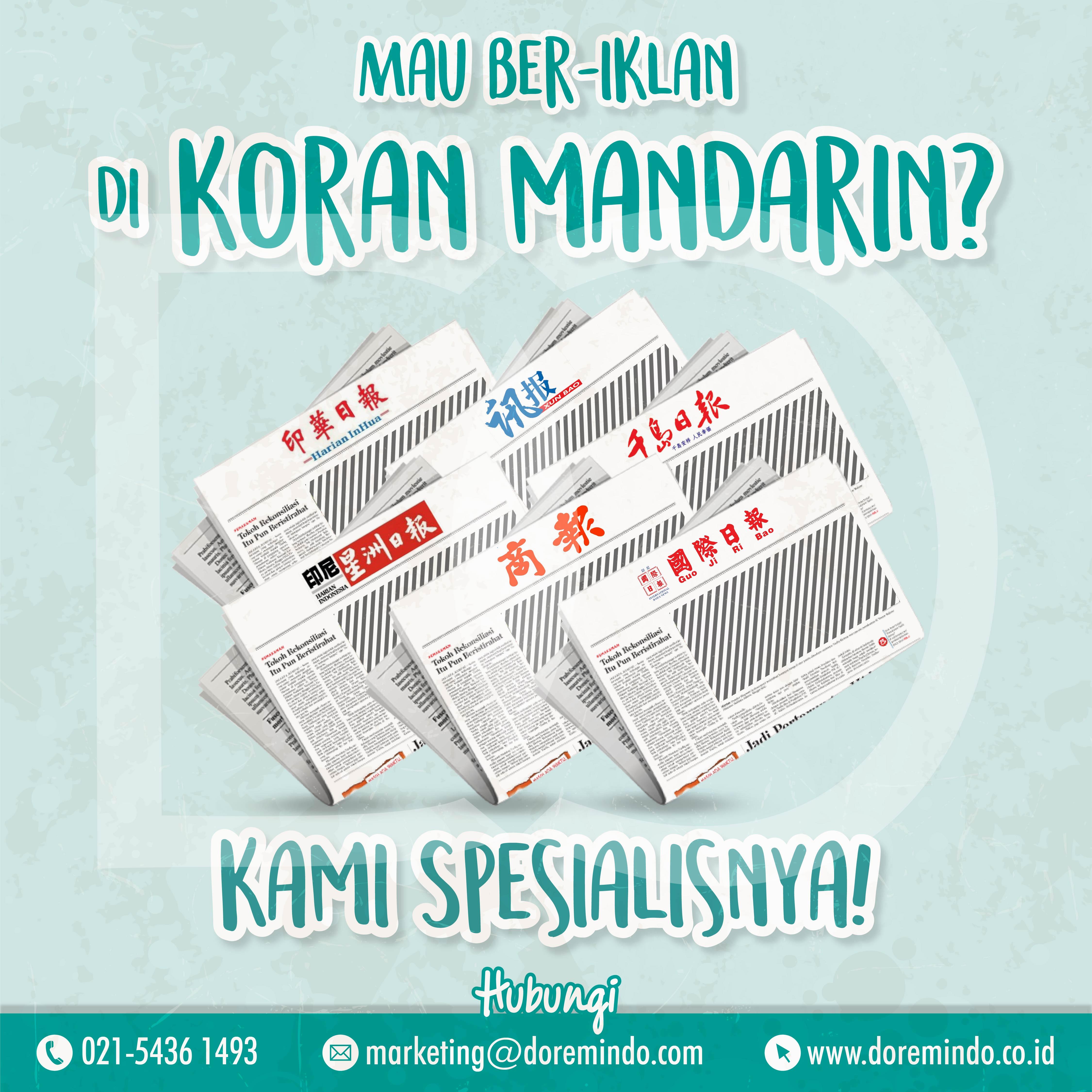 Iklan di Koran Mandarin