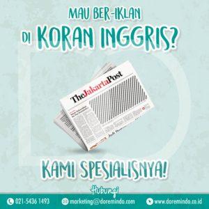Iklan Koran The Jakarta Post